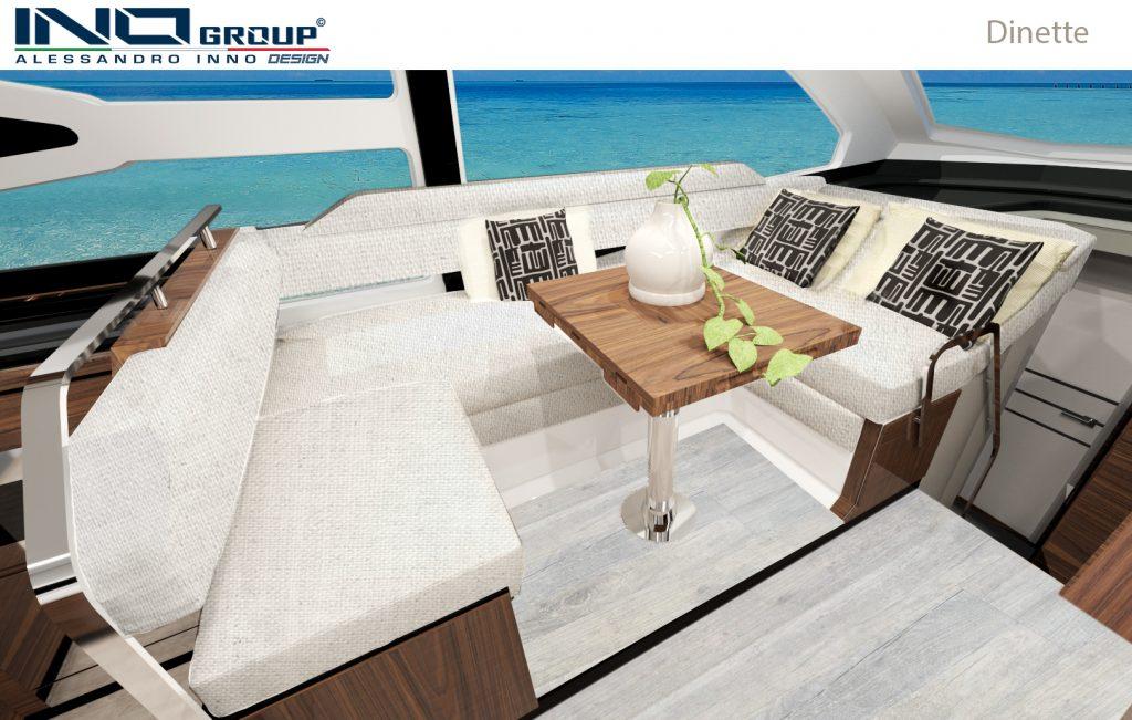 Cobrey Yachts 42 FLY Dinette