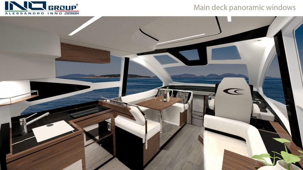 Cobrey Yachts 42 FLY Main Deck Panoramic Windows