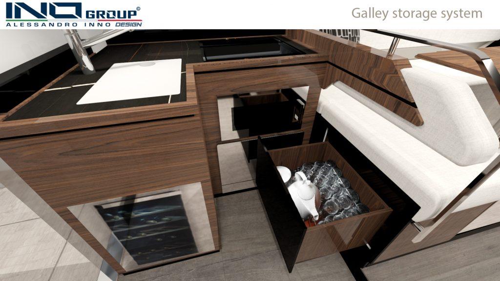 Cobrey Yachts 42 FLY galley storage system