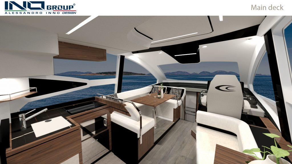 Cobrey Yachts 42 FLY main Deck
